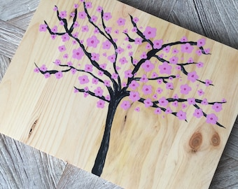 Cherry - painting on wood
