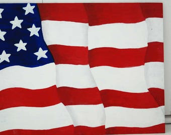 American Flag Acrylic Canvas Painting
