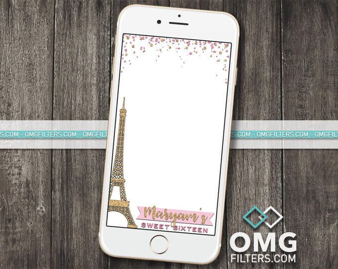 Paris Eiffel Tower Geofilter for Snapchat - Any Event and Any Colors!