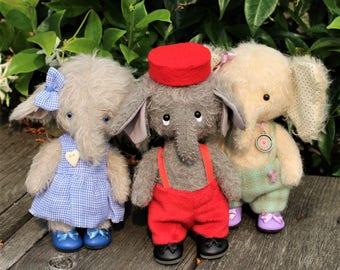 Elephant pattern, teddy elephant, teddy bear elephant, elephant teddy pattern, artist teddy bear elephant, cute elephant sewing pattern
