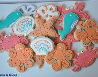 Custom Under the Sea Creature Cookies