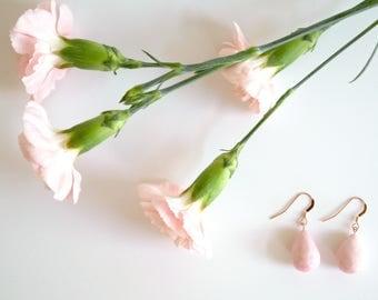 Gold Dangle Earrings, Drop Earrings, Clay Jewelry, Ceramic Earrings, Handmade Earrings, Minimal Jewelry, Sterling Silver Teardrop Earrings