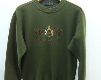 Vintage Claudio Valentino Paris Sweatshirt Urban Casual Fashion Designer Sweater Size M
