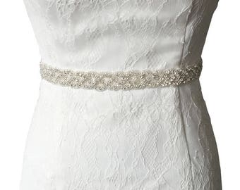 Ivory Handmade Rhinestones Evening Party Prom Dresses Accessories Wedding Belt Sashes Waistband more Colors Available