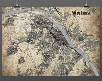 Mainz DIN A4 / DIN A3 - print - turquoise