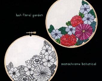 "Garden (hand embroidery. 6"" hoop art. home decor)"