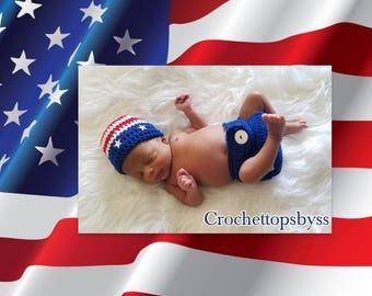 Infant Boys' USA Prop Set