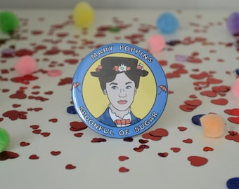 Mary Poppins - 58mm - Badge