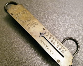 Antique Chatillons 1892 Spring Balance Scale, 30lb Family Scale, Model 24654