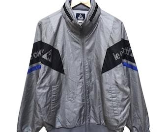Hot Sale!!! Rare Vintage 90s LE COQ SPORTIF Windbreaker Hoodie Jacket Hip Hop Skate Swag Large Size