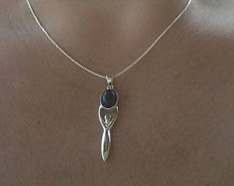 Mother Goddess wicca wiccan silver Amethyst jewelry Paganism