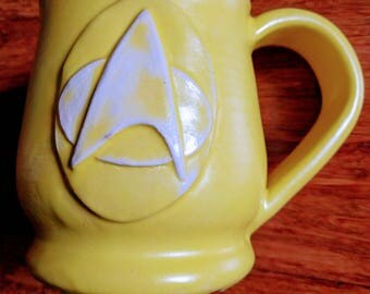 Star Trek mug, handmade ceramic mug for coffee or tea, 14 ounce mug #217