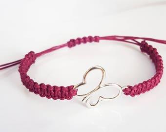 Butterfly braid bracelet