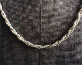 Vintage 925 silver twist necklace