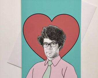 Moss IT Crowd Illustrative A5 Valentines Card