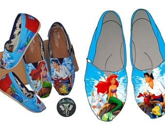 Little Mermaid Custom Toms