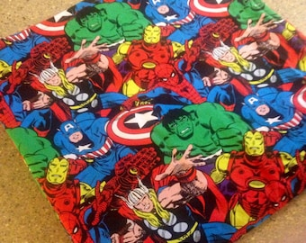 Marvel Comics  Baby Blanket, Personalized Baby Blanket, Minky Blanket, Minky Baby Blanket,Superhero Blanket, Custom Made Baby Blanket