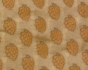 Half Yard of Light Brown and Wooden pattern Brocade Silk Fabric