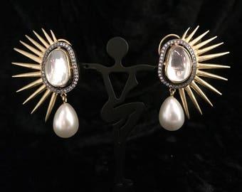 Wings of Fire Earrings   Spike Studs