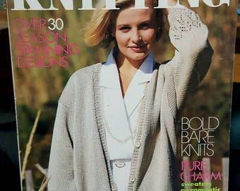 Spring/Summer 1988 Simplicity Knitting Pattern Magazine Retro Styles Original NOT PDF