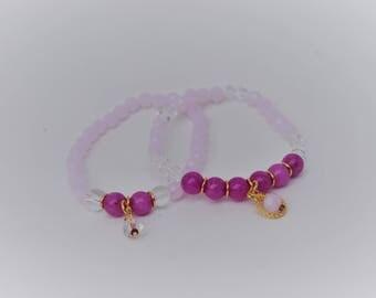 Beautiful set of 2 bracelets and earrings