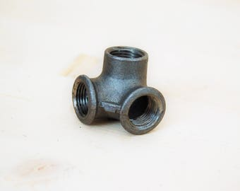 """Elbow 3 ways, dispenser, cast iron black 15 / 20 or 21mm (1/2 """") / 27mm (3/4"""") or 26 / 34mm (1 """")"""