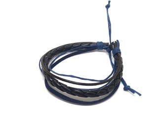 Navy Blue men bracelet