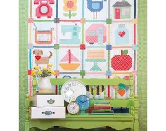 NEW Picture Day Pictures Quilt Kit with Spelling Bee Book Bee Basics by Lori Holt