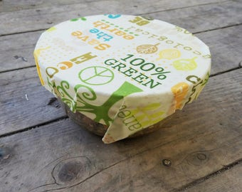 Beeswax Food Wrap, Eco Friendly Food Storage, Organic Cotton Plastic Alternative