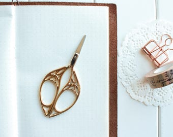 Vintage Gold Lace Butterfly Embroidery Scissors