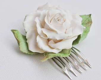 Bridal flower hair comb, wedding accessories