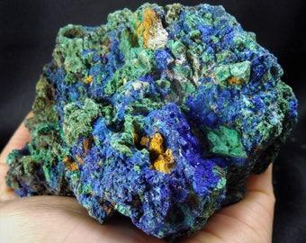 Big Natural Azurite Malachite Crystal Rock Mineral Specimen Reiki Chakra Healing Gemstone
