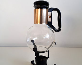 Vintage Silex Glass Coffee Carafe with Candle Warmer