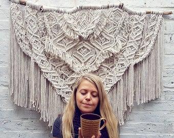 Giant Macrame wall hanging/wedding backdrop/ wall tapestry/ wall hanging /macrame/macrame curtain/woven wall hanging