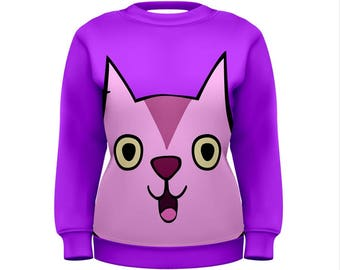 Mabel Cat Sweater - Gravity Falls Sweatshirt Cosplay Sweatshirt Mabel Pines Sweatshirt Cartoon Sweatshirt Oddity Apparel Mabel Sweatshirt