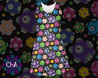 Rolling Dress - Katamari Dress Katamari Cousins Dress Katamari Damacy Skater Dress Plus Size Dress Video Game Dress Ichigo Dipp