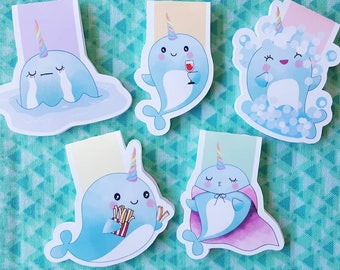 Narwhal Magnetic Bookmark Sets