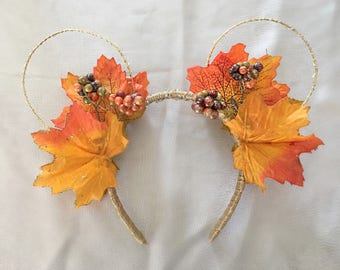 Fall Leaves Light-up Mickey Mouse Ears