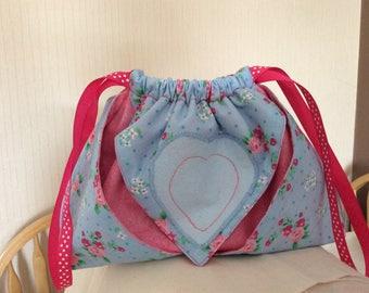 Drawstring Origami Pouch, drawstring bag, Origami drawstring bag, Pouch