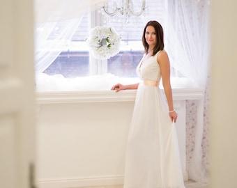 Rustic wedding dress etsy annabell wedding dress for brides wedding separates wedding dress rustic wedding dresses junglespirit Gallery
