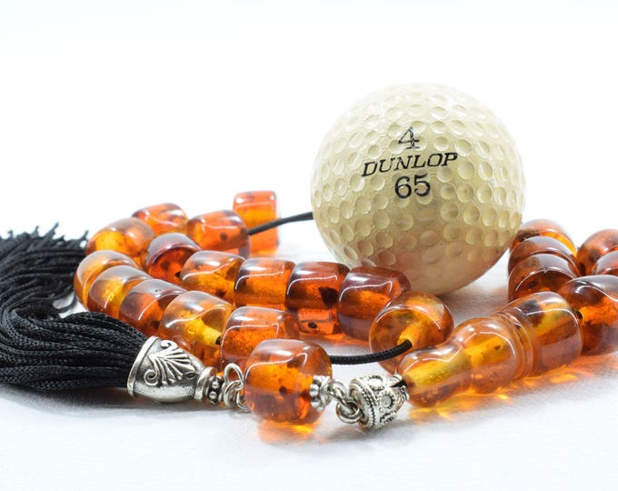 Honey Amber color Komboloi, Worry Beads, Greek Komboloi, Handmade Tassel, Relaxation. Meditation, Tesbih, Gift for Men, Stress Relief