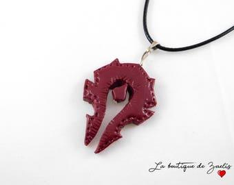 World of Warcraft HORDE pendant necklace