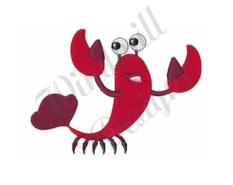 Cartoon Baby Lobster - Machine Embroidery Design