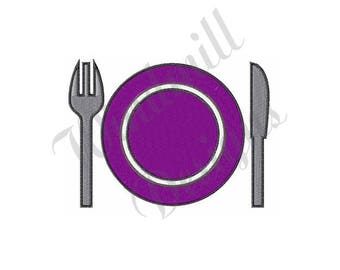 Place Setting - Machine Embroidery Design