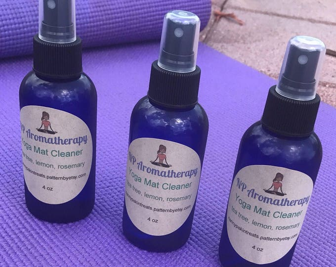 Yoga Mat Cleaner Spray Organic - CERTIFIED AROMATHERAPIST