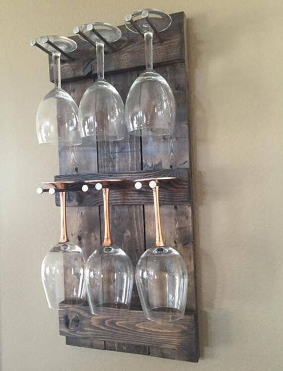 rustic wine glass holder wine glass rack wine glass. Black Bedroom Furniture Sets. Home Design Ideas
