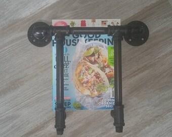 Magazine Rack, Industrial Decor, Urban Pipe Magazine Rack, Farmhouse, Pipe Decor, Pipe Bathroom, Magazine Display, Pipe Rack