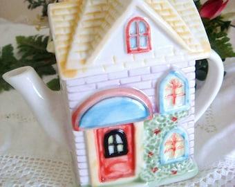 Novelty Ornamental Cottage Teapot