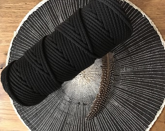 Black Braided 4mm Rope