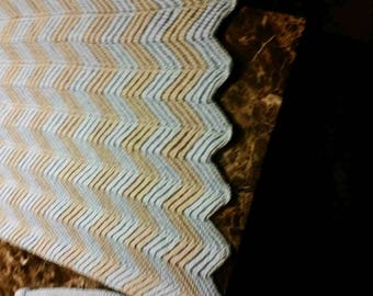 Chevron Crocheted Baby Blanket